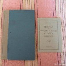 Libros antiguos: HISTORIA DE ESPAÑA - 1931 - EXCELENTE ESTADO + LIBRILLO PROGRAMA DE GEOGRAFÍA E HISTORIA. Lote 57201480