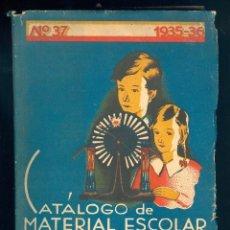 Libros antiguos: NUMULITE L0296 CATÁLOGO DE MATERIAL ESCOLAR DALMAU CARLES S.A. Nº 37 AÑO 1935 - 1936 GERONA MADRID. Lote 57229116