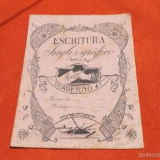 Libros antiguos: CUADERNO ESCRITURA INGLES GRAFICO, MARCA X, MODERNISTA PORTADA A. SOLER. Lote 57292157