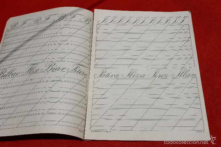 Libros antiguos: CUADERNO ESCRITURA INGLES GRAFICO, MARCA X, MODERNISTA PORTADA A. SOLER - Foto 2 - 57292157