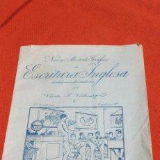 Libros antiguos: NUEVO METODO GRAFICO DE ESCRITURA INGLESA, VICENTE F. VALLICIERGOL, ED. SATURNINO CALLEJA. Lote 57292304