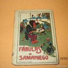 Libros antiguos: ANTIGUO LIBRO DE ESCUELA FÁBULAS DE SAMANIEGO DE EDITORIAL SATURNINO CALLEJA. Lote 57584892