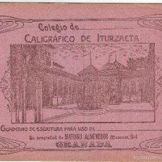 Livros antigos: GRANADA CUADERNO CALIGRÁFICO DE ITURZAETA PRINCIPIOS SIGLO XX. Lote 57689016