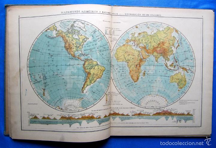 Libros antiguos: ATLAS UNIVERSAL. SEGUNDO GRADO. INSTITUTO GEOGRÁFICO HISPANO AMERICANO, SIN FECHA. - Foto 5 - 57885802
