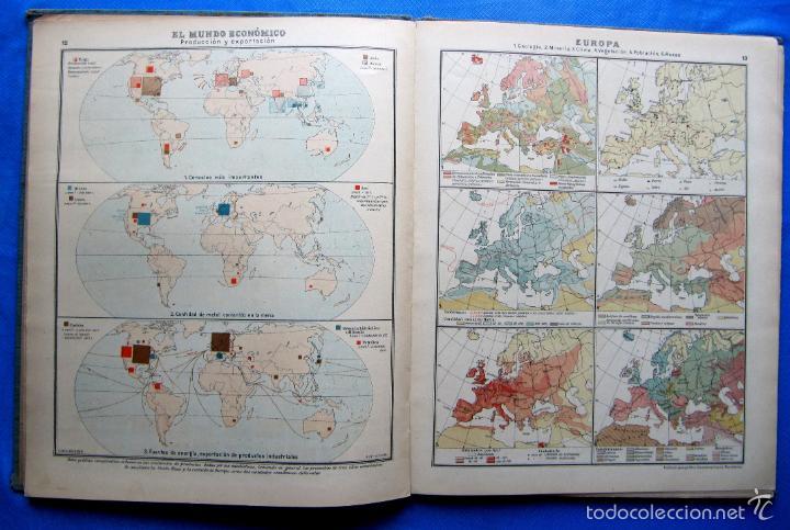 Libros antiguos: ATLAS UNIVERSAL. SEGUNDO GRADO. INSTITUTO GEOGRÁFICO HISPANO AMERICANO, SIN FECHA. - Foto 6 - 57885802