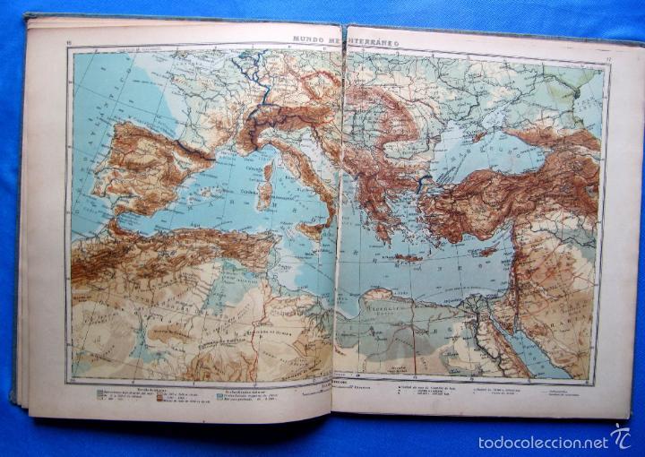 Libros antiguos: ATLAS UNIVERSAL. SEGUNDO GRADO. INSTITUTO GEOGRÁFICO HISPANO AMERICANO, SIN FECHA. - Foto 7 - 57885802