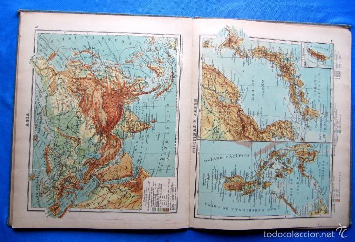 Libros antiguos: ATLAS UNIVERSAL. SEGUNDO GRADO. INSTITUTO GEOGRÁFICO HISPANO AMERICANO, SIN FECHA. - Foto 8 - 57885802