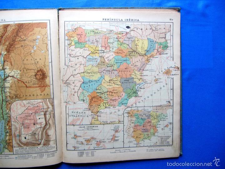 Libros antiguos: ATLAS UNIVERSAL. SEGUNDO GRADO. INSTITUTO GEOGRÁFICO HISPANO AMERICANO, SIN FECHA. - Foto 9 - 57885802
