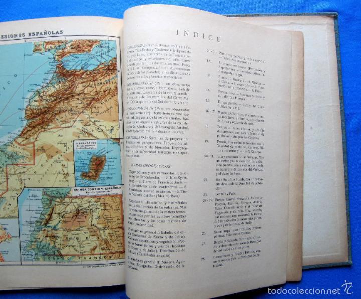 Libros antiguos: ATLAS UNIVERSAL. SEGUNDO GRADO. INSTITUTO GEOGRÁFICO HISPANO AMERICANO, SIN FECHA. - Foto 10 - 57885802