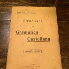 Libros antiguos: ANTIGUO LIBRO EJERCICIOS DE GRAMÁTICA CASTELLANA LERIDA INPRENTA MARIANNA AÑO 1932. Lote 58281820
