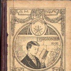 Libros antiguos: LECCIONES DE LENGUA CASTELLANA 3ER. AÑO O CURSO SUPERIOR BRUÑO 1923 - LIBRO DEL ALUMNO. Lote 58553564