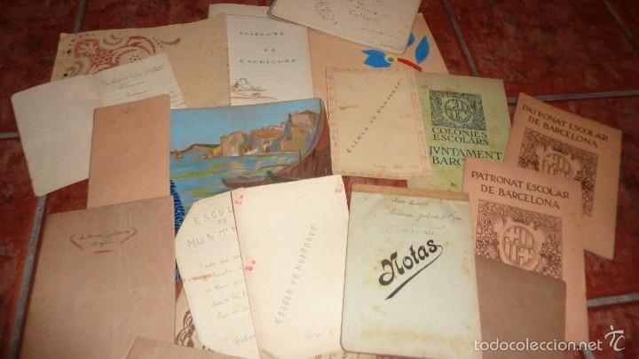 Dibujos En Libretas Ii: Lote Cuadernos Libretas Dibujos Colonia Escolar