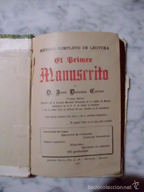 Libros antiguos: ÚNICO - EL PRIMER MANUSCRITO - JOSÉ DALMAU CARLES - PRIMERA EDICIÓN DE 1921 - Foto 3 - 59153885