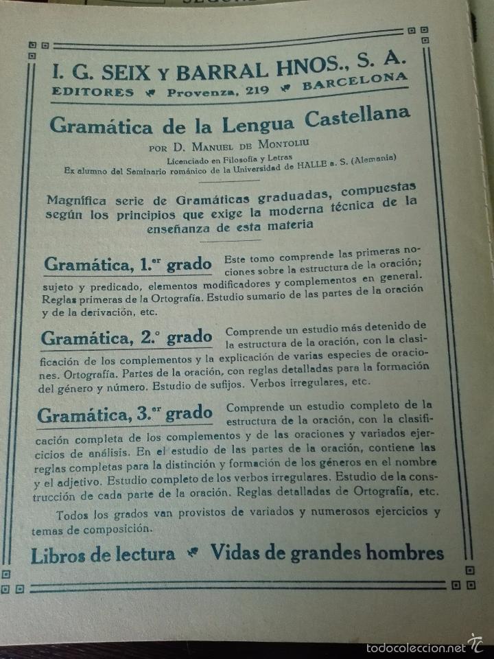 Libros antiguos: GRAN LOTE DE 24 CUADERNILLOS DE ESCUELA DE PRIMARIA - SEIX & BARRAL - BARCELONA - 1933 - - Foto 5 - 60262851