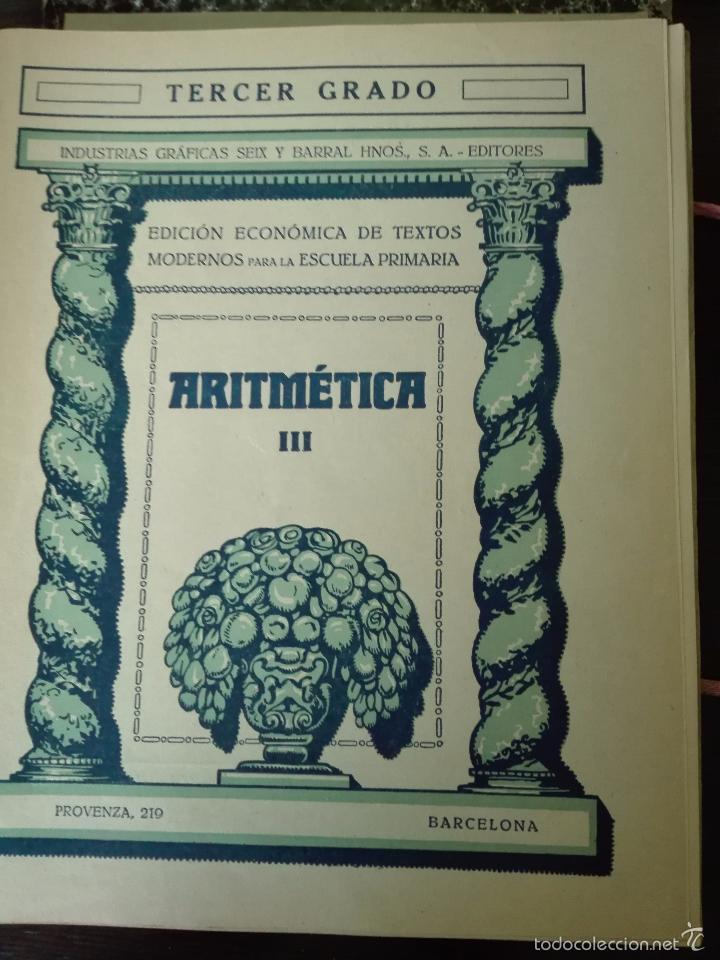 Libros antiguos: GRAN LOTE DE 24 CUADERNILLOS DE ESCUELA DE PRIMARIA - SEIX & BARRAL - BARCELONA - 1933 - - Foto 26 - 60262851