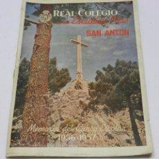 Libros antiguos: MEMORIA CURSO ESCOLAR REAL COLEGIO DE LAS ESCUELAS PIAS DE SAN ANTON 1956-1957, EN BUEN ESTADO DE CO. Lote 63184532