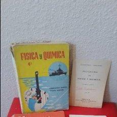 Libros antiguos: ANTIGUO LOTE 1965 LIBRO DE TEXTO O ESCUELA 4º CURSO CUARTO EDICIONES S.M SM MATEMATICAS FISICA QUIMI. Lote 63585464