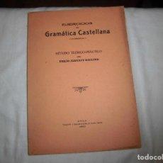 Libros antiguos: EJERCICIOS DE GRAMATICA CASTELLANA.METODO TEORICO-PRACTICO.EMILIO ALEMANY BOLUFER.AVILA 1929. Lote 64464311