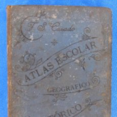 Libros antiguos: ATLAS ESCOLAR GEOGRÁFICO E HISTÓRICO. FÉLIX SÁNCHEZ CASADO. LIBRERÍA DE HERNANDO / JUBERA, 1898.. Lote 64492959