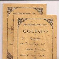 Libros antiguos: 2 CUADERNOS DE ESCRITURA, FECHADO 1933, MANUSCRITO. Lote 67701269