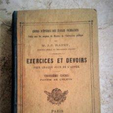 Libros antiguos: EXERCICES ET DEVOIRS POUR CHAQUE JOUR DE L'ANNÉE (1876) - EJERCICIOS Y DEBERES PARA CADA DIA DEL AÑO. Lote 68979753