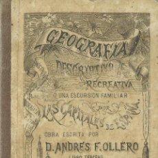 Libros antiguos: GEOGRAFÍA DESCRIPTIVO Y RECREATIVA. ANDRÉS F. OLLERO. IMP. DE MANUEL ALUFRE. VALENCIA. 1882. Lote 69363685