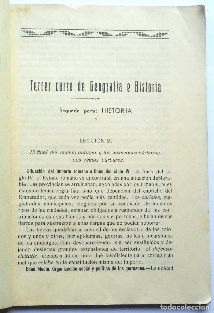 Libros antiguos: TERCER CURSO DE GEOGRAFÍA E HISTORIA – 2ª PARTE HISTORIA – JOSÉ LAFUENTE - ALICANTE - Foto 2 - 69578461