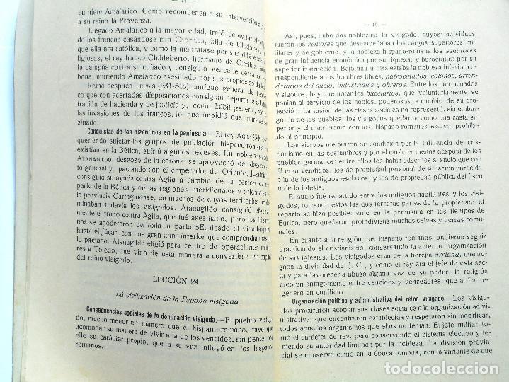 Libros antiguos: TERCER CURSO DE GEOGRAFÍA E HISTORIA – 2ª PARTE HISTORIA – JOSÉ LAFUENTE - ALICANTE - Foto 3 - 69578461