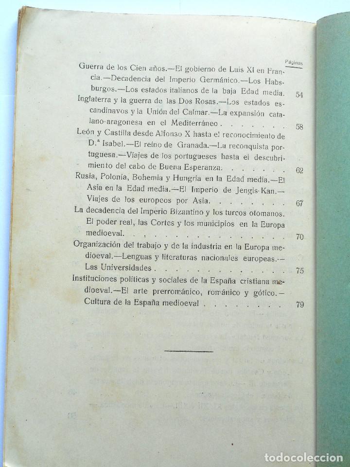 Libros antiguos: TERCER CURSO DE GEOGRAFÍA E HISTORIA – 2ª PARTE HISTORIA – JOSÉ LAFUENTE - ALICANTE - Foto 5 - 69578461