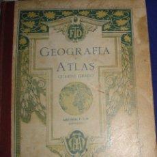 Libros antiguos: ATLAS UNIVERSAL POR FTD BARCELONA CUARTO GRADO CON VISTOSOS MAPAS DE LA EPOCA 1926. Lote 69706729