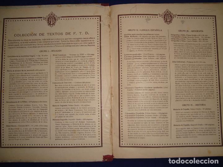 Libros antiguos: ATLAS UNIVERSAL DE 1926 POR F.T.D BARCELONA CUARTO GRADO CON VISTOSOS MAPAS DE LA ÉPOCA - Foto 2 - 69706729