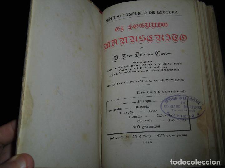 Libros antiguos: EUROPA.EL SEGUNDO MANUSCRITO.JOSE DALMAU CARLES 1915 - Foto 3 - 277673458