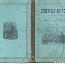 Libros antiguos: JOSÉ CODINA : URBANIDAD EN VERSO PARA USO DE LAS NIÑAS (BASTINOS, 1896). Lote 72201947