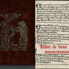 Libros antiguos: LLIBRE DE BONS AMONESTAMENTS. AÑO 1972. (11.5). Lote 155691962