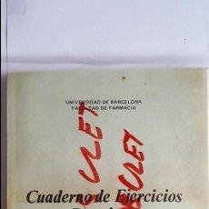 Libros antiguos: ANTIGUO CUADERNO DE EJERCICIOS PRACTICOS UNIVERSIDAD DE BARCELONA FACULTAD DE FARMACIA. Lote 73005907