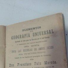 Libros antiguos: ELEMENTOS DE GEOGRAFÍA UNIVERSAL 1906 CON PÁGINAS DESPLEGABLES. Lote 74018743