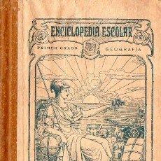 Libros antiguos: ENCICLOPEDIA ESCOLAR RUIZ ROMERO GEOGRAFÍA PRIMER GRADO 1904. Lote 76348487