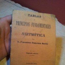 Libros antiguos: TABLAS ARITMETICA FRANCISCO COMERMA BACHS 1899 TERCERA EDICION....-(REF-1AC) . Lote 77881381