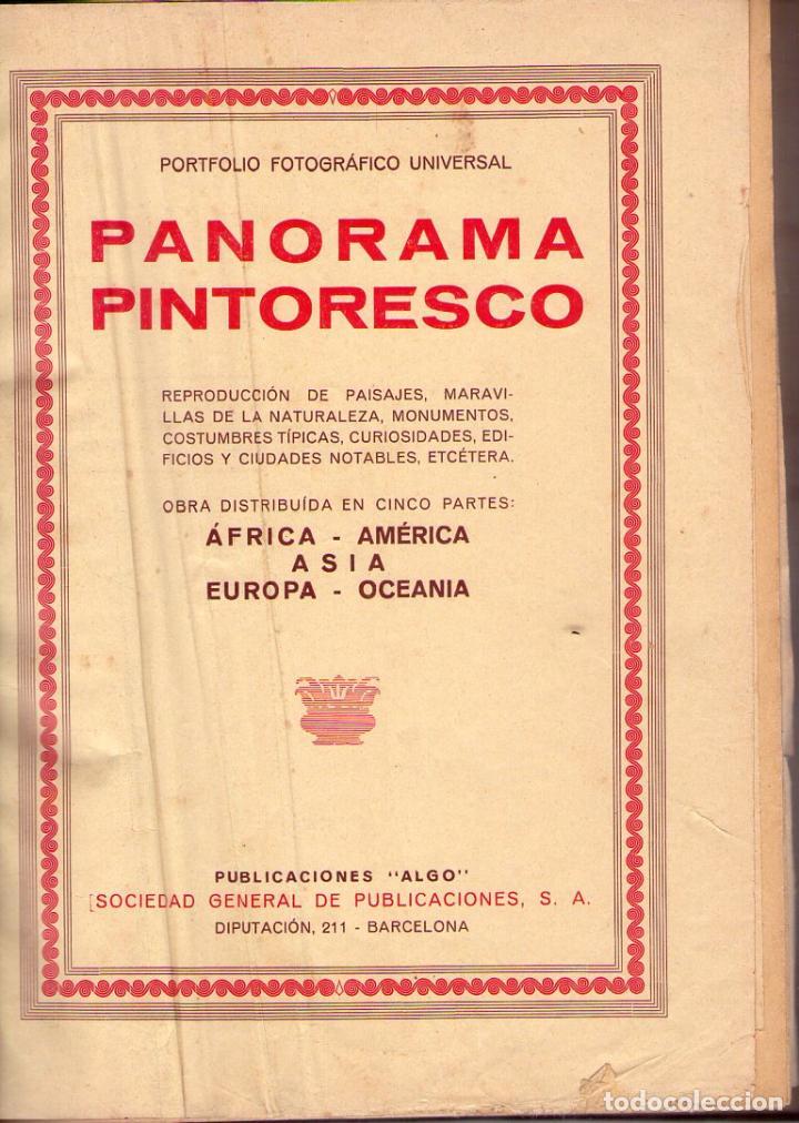 PANORAMA PINTORESCO *** AFRICA ** AMERICA ** ASIA ** EUROPA ** OCEANIA (Libros Antiguos, Raros y Curiosos - Libros de Texto y Escuela)
