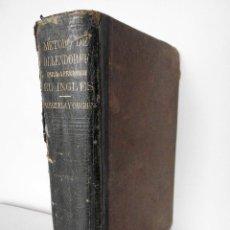 Libros antiguos: MÉTODO DE OLLENDORFF PARA APRENDER INGLÉS (NEW YORK / CINCINNATI, 1860). Lote 80879515