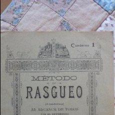 Libros antiguos: J.FABREGAS.METODO DE RASGUEO.CUADERNO 1.SIN FECHA.. Lote 80890523