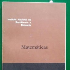 Libros antiguos: MATEMÁTICAS INBAD. 1º BUP. DOCUMENTO 10/1. Lote 81207528