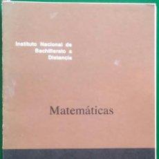 Libros antiguos: MATEMÁTICAS INBAD. 1º BUP. DOCUMENTO 10/2. Lote 81207976