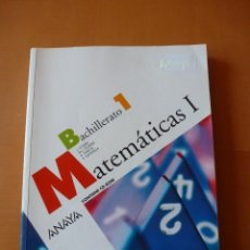 Livros antigos: MATEMÁTICAS BACHILLERATO 1. ANAYA. Lote 230999840