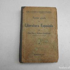 Libros antiguos: CICLO DE LENGUA Y LITERATURA ESPAÑOLAS TERCER GRADO AÑO 1934. Lote 83784936
