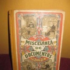 Libros antiguos: MISCELANEA DE DOCUMENTOS PALUZIE. 1924. EN UN ESTADO IMPECABLE A PESAR DE LOS AÑOS.. Lote 87581420
