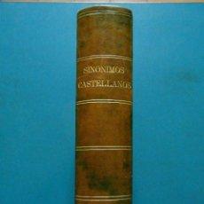 Libros antiguos: FILOSOFIA DE LA LENGUA ESPAÑOLA. SINONIMOS CASTELLANOS. ROQUE BARCIA. T. I Y II EN 1 V . 2ª ED. 1870. Lote 89063616