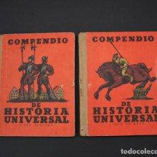 Libros antiguos: 2 LIBROS COMPENDIO DE HISTORIA UNIVERSAL, ALBERTO LLANO, SEIX BARRAL 1934 LIBROS PRIMERO Y SEGUNDO . Lote 89690296