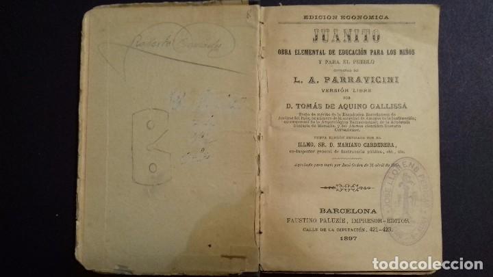 Libros antiguos: JUANITO. L.A. PARRAVICINI. IMP.:F. PALUZIE 1897 - Foto 2 - 90686345