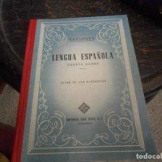Libros antiguos: LIBRO ESCUELA LENGUA ESPAÑOLA CUARTO CURSO COMO NUEVO. Lote 92328490